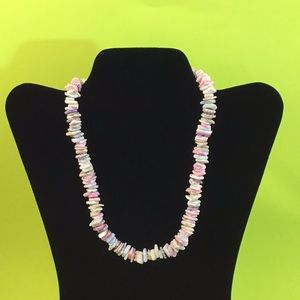 Pink Stone Choker Necklace